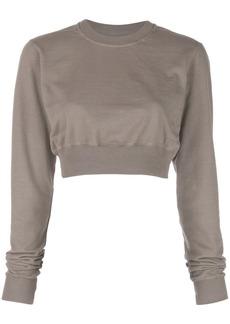 Rick Owens cropped crewneck sweatshirt