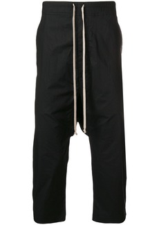 Rick Owens cropped drop-crotch track pants