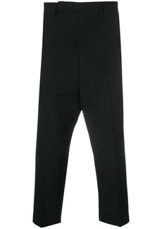 Rick Owens cropped drop-crotch trousers
