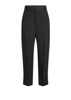 Rick Owens Cropped High-Waist Pants with Wool