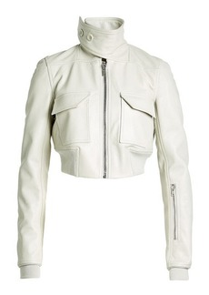 Rick Owens Cropped Leather Bomber