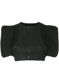 Rick Owens cropped panelled top