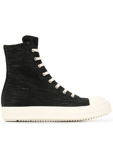 Rick Owens denim high-top sneakers