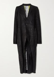 Rick Owens Distressed Crinkled-leather Coat