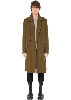 Rick Owens Double Breasted Wool Blend Coat