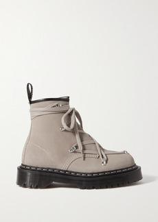 Rick Owens Dr Martens 1460 Bex Suede Ankle Boots
