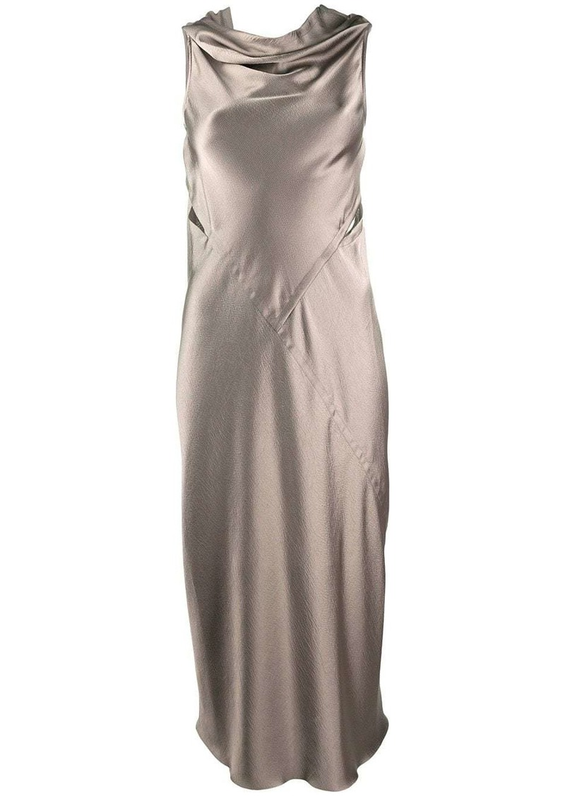 Rick Owens drape satin dress