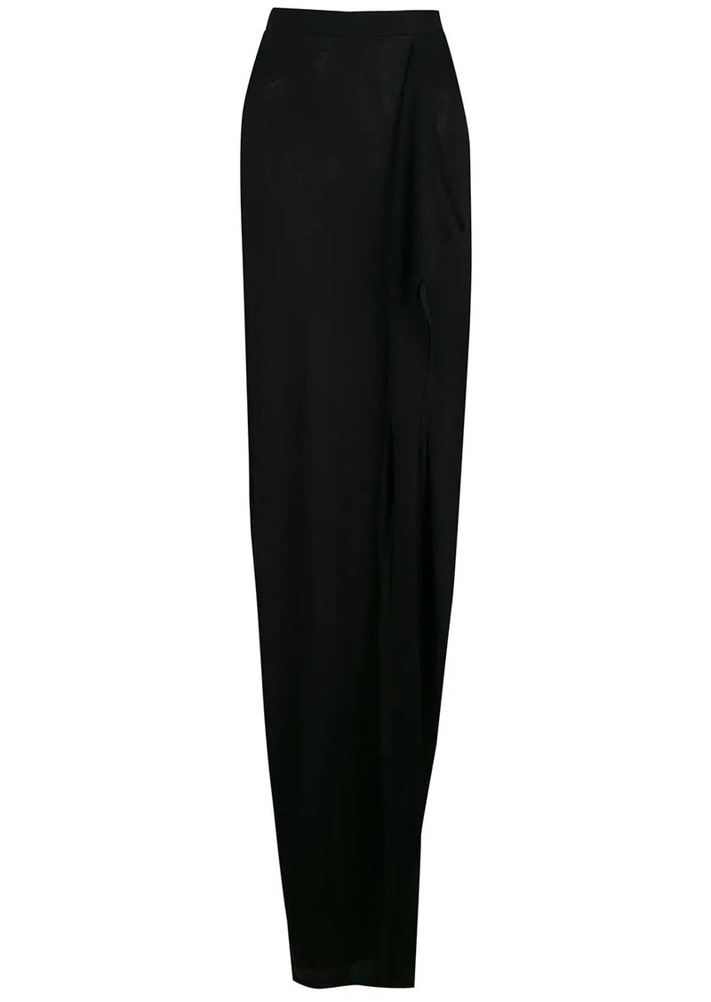 Rick Owens draped asymmetric skirt