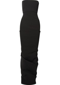Rick Owens Draped cotton-blend crepe gown