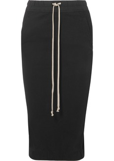 Rick Owens Draped Cotton-jersey Midi Skirt