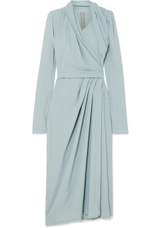 Rick Owens Draped Crepe Wrap Dress
