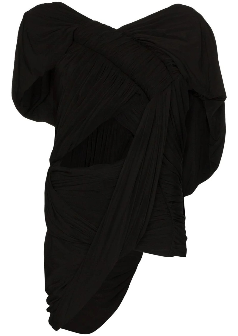 Rick Owens draped cutout top