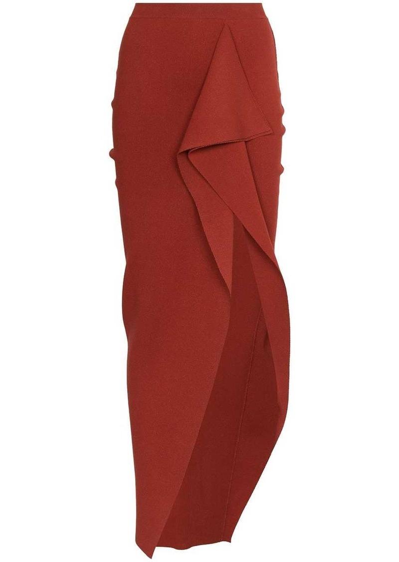 Rick Owens draped detail slit skirt