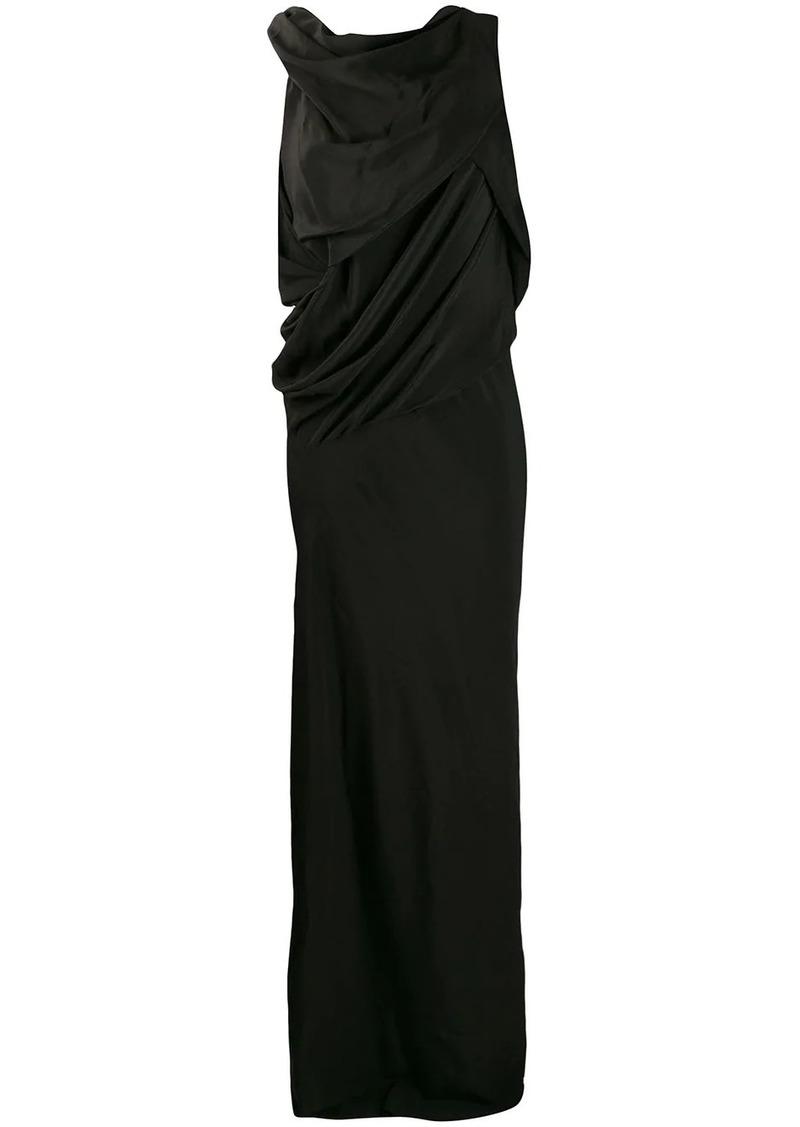 Rick Owens draped long dress