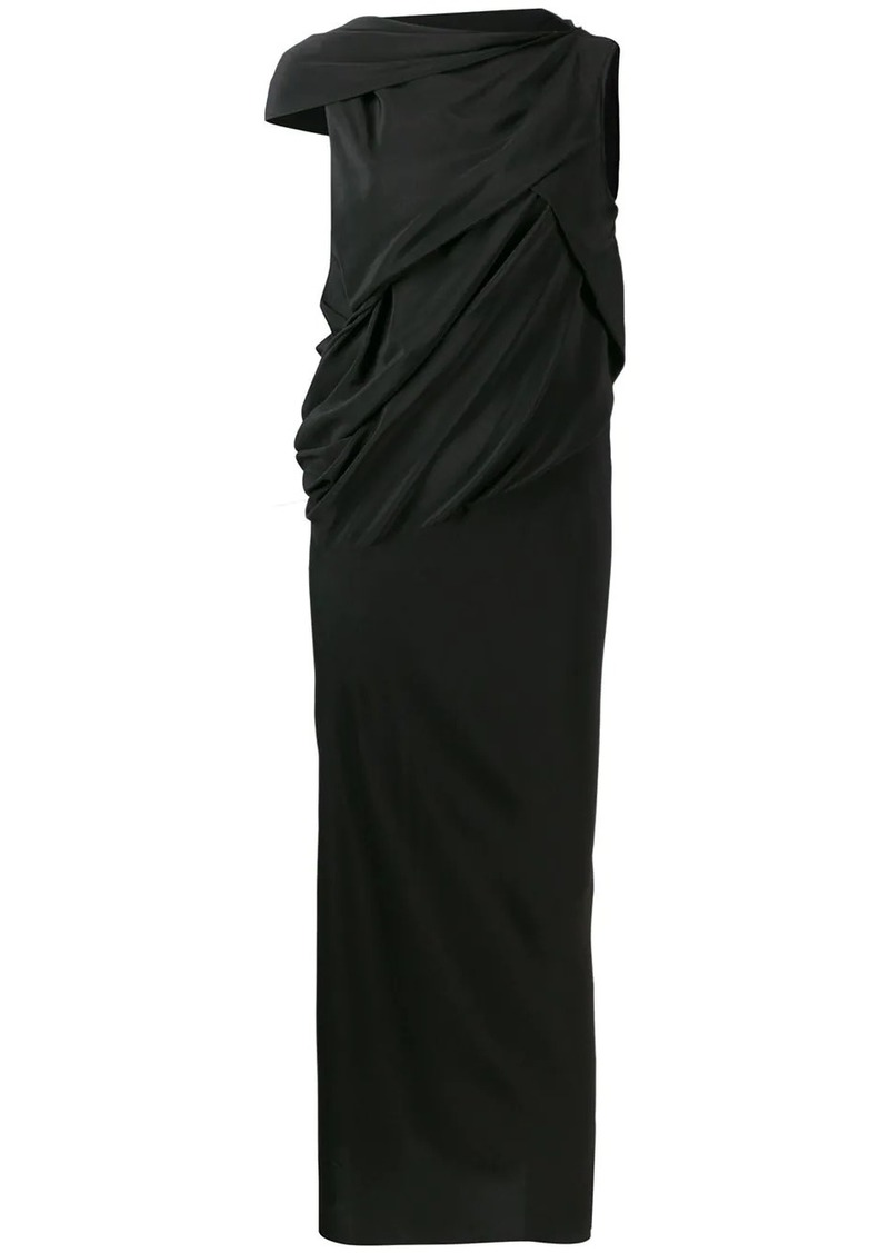 Rick Owens draped maxi dress