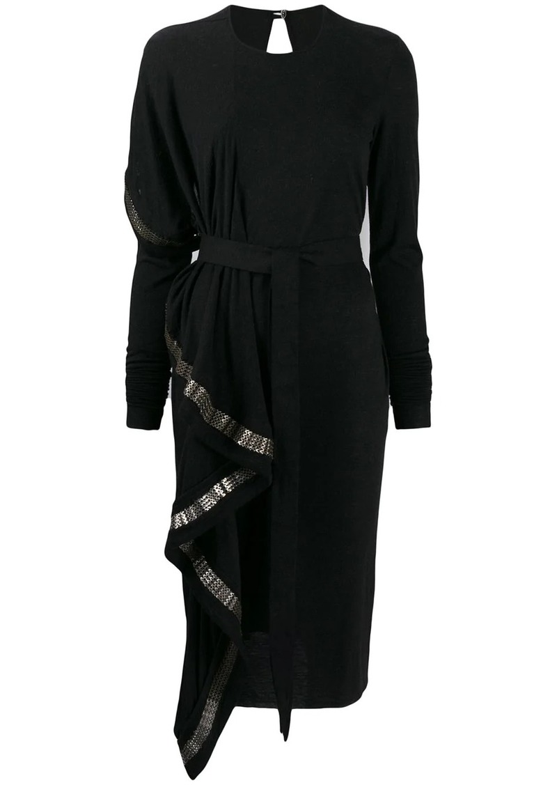 Rick Owens draped midi dress
