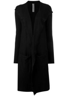 Rick Owens draped open front cardigan coat