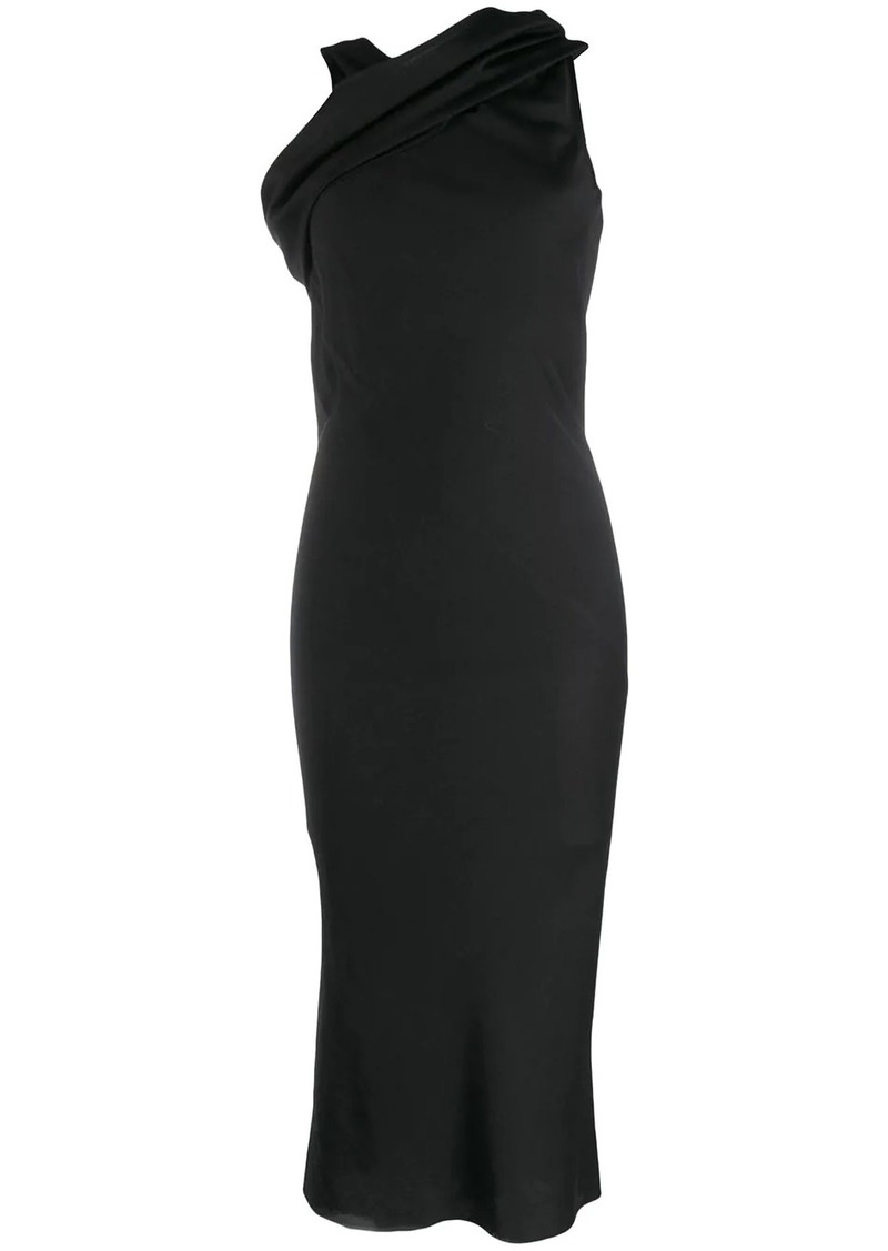Rick Owens draped shoulder midi dress