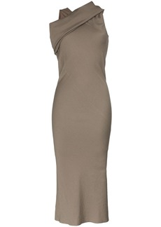 Rick Owens draped shoulder midi-dress