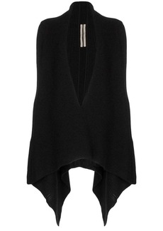 Rick Owens draped-side knitted cardigan