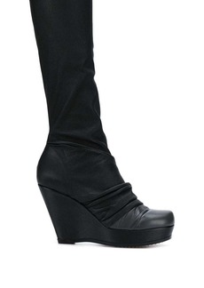 Rick Owens draped sock wedge boots