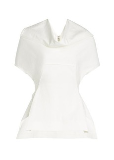 Rick Owens Draped Top with Cotton