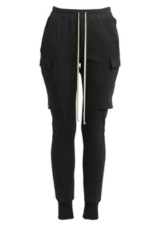 Rick Owens Drawstring Cotton Cargo Joggers