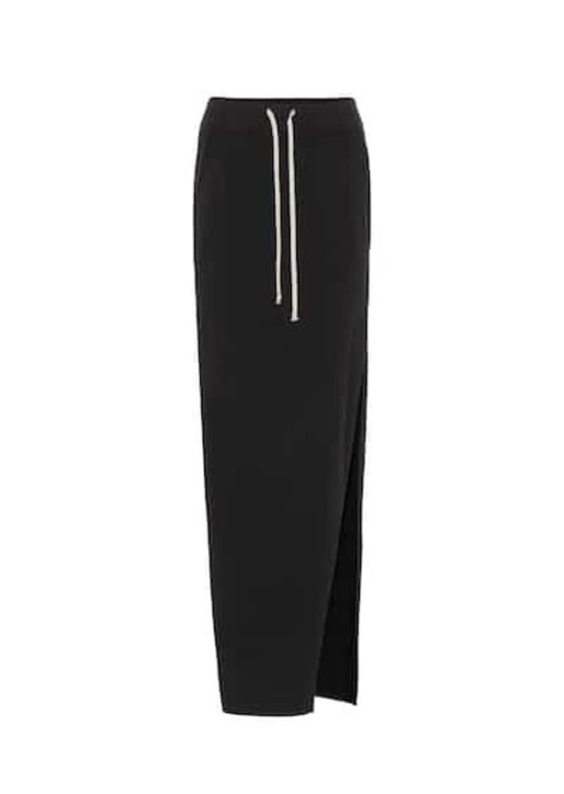 Rick Owens Drawstring cotton maxi skirt