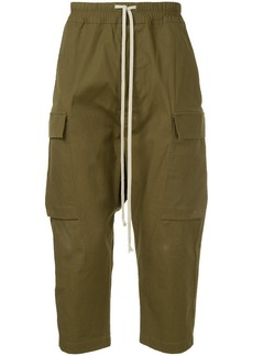 Rick Owens drawstring cropped cargo trousers