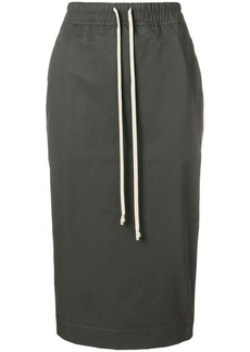Rick Owens drawstring pencil skirt