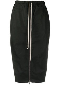 Rick Owens drawstring zipped pencil skirt
