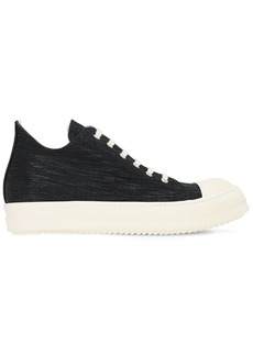 Rick Owens Drkshdw Denim Low Top Sneakers