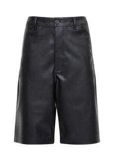 Rick Owens Drkshdw Faux Leather Ams Shorts