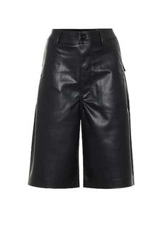 Rick Owens DRKSHDW faux leather shorts