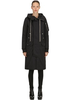 Rick Owens Drkshdw Hooded Bomber Coat
