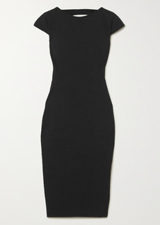 Rick Owens Easy Sarah Open-back Stretch Cotton-blend Crepe Dress