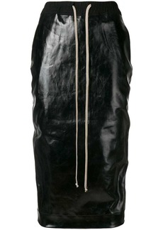 Rick Owens elasticated varnished skirt