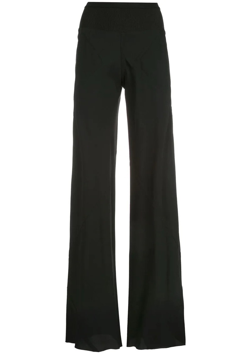 Rick Owens elongated flared trousers