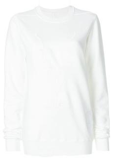 Rick Owens embossed sweatshirt