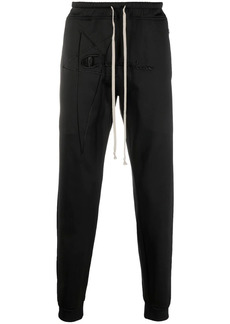 Rick Owens embroidered-logo trousers
