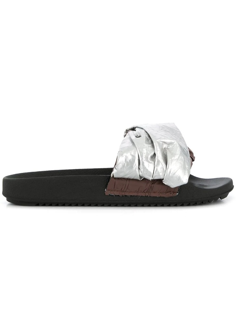 Rick Owens fabric strap slippers