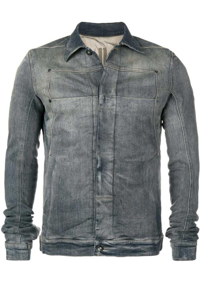 Rick Owens faded denim jacket