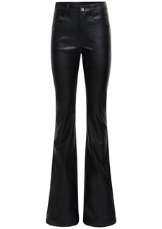 Rick Owens Faux Leather Flared Pants