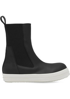 Rick Owens Drkshdw Faux Leather High-top Sneakers