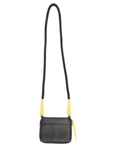 Rick Owens faux-leather neck strap wallet