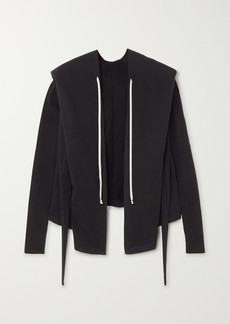 Rick Owens Felpa Tie-detailed Cotton-jersey Hoodie