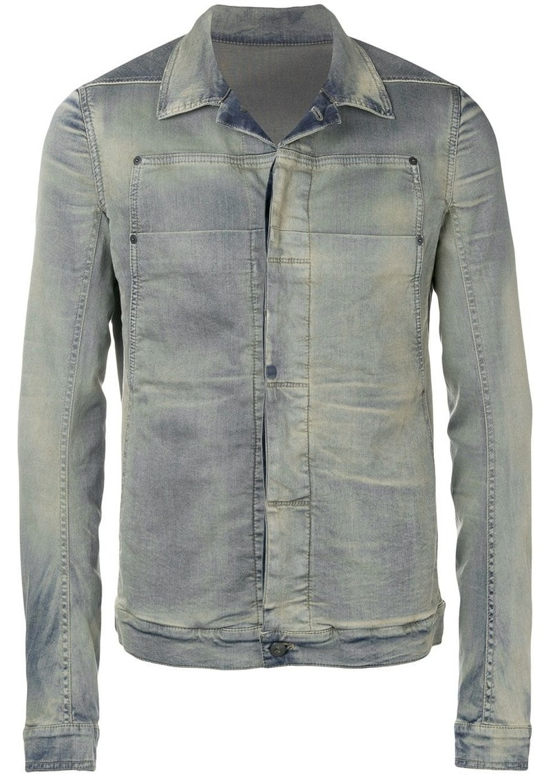 Rick Owens fitted denim jacket