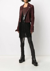 Rick Owens fitted off-centre zipped jacket