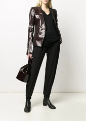 Rick Owens fitted patent blazer