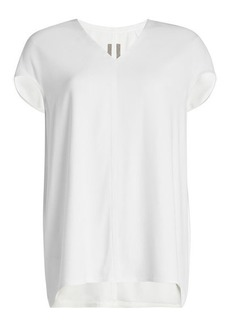 Rick Owens Fluid Top with High-Low Hem
